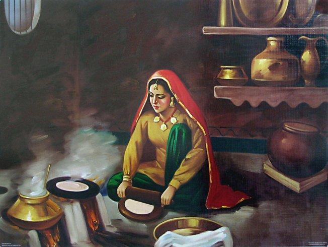 Punjabi-lady-making-chapati